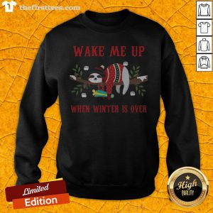 Sloth Wake Me Up When Winter Is Over Christmas Sweatshirt - Design By Thefirsttees.com