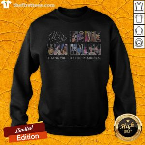 Eddie Van Halen 1955 2020 Thank You For The Memories Signature Sweatshirt - Design By Thefirsttees.com