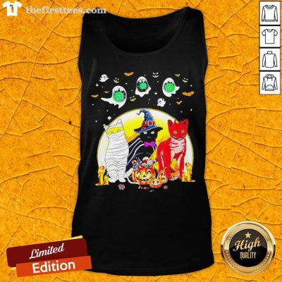 Funny Cat Costume Happy Halloween Tank Top - Design By Thefirsttees.com