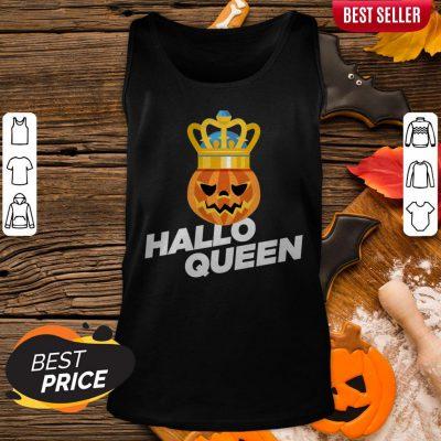 Hallo Queen Pumpkin King Halloween Tank Top