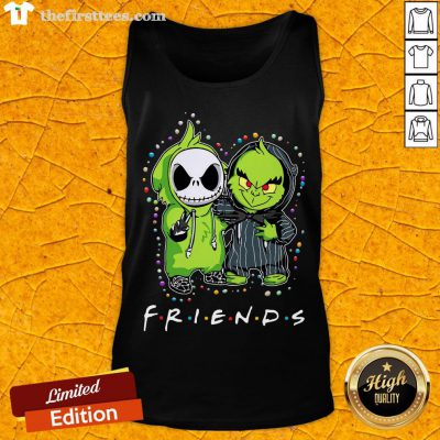 Baby Jack Skeleton And Baby Green Friends Light Christmas Tank Top - Design By Thefirsttees.com