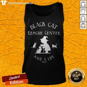 Black Cat Rescue Center Save A Life Salem Witch Halloween Tank Top - Design By Thefirsttees.com