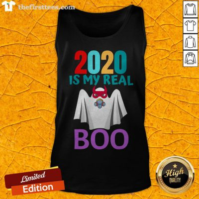 Colorful 2020 Is My Real Boo Ghost Halloween Tank Top - Design By Thefirsttees.com