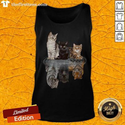 Awesome The Cats Water Mirror Reflection Tigers Tank Top - Design By Thefirsttees.com