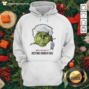 Funny Merry Christmas Pet Resting Grinch Face Hoodie - Design By Thefirsttee.com