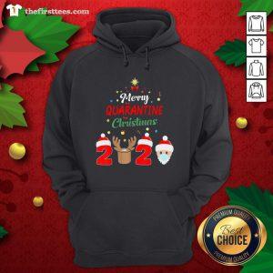 Cute Santa Face Mask Reindeer Merry Quarantine Christmas 2020 Hoodie - Design By Thefirsttee.com