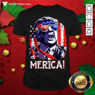 Awesome Donald Trump Merica 4th July Shirt - Design By Thefirsttees.com