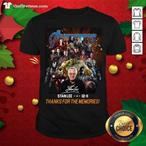 Pretty Avenger Stan Lee 12-11 Thanks For The Memories ShirtPretty Avenger Stan Lee 12-11 Thanks For The Memories Shirt - Design By Thefirsttees.com