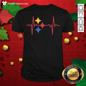 Colorful Heartbeat Pittsburgh Steelers Shirt - Design By Thefirsttee.com