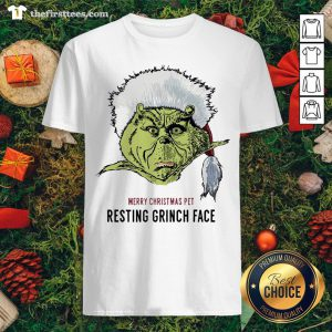 Funny Merry Christmas Pet Resting Grinch Face Shirt - Design By Thefirsttee.com
