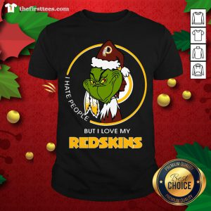 Grateeful I Hate People But I Love My Washington Redskins Grinch Shirt - Design By Thefirsttee.com