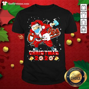 Nice Baltimore Orioles Funny Santa Claus Dabbing Christmas 2020 Shirt - Design By Thefirsttee.com
