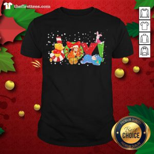 Lovely Pooh And Friend Joy Christmas Shirt - Design By Thefirsttee.com