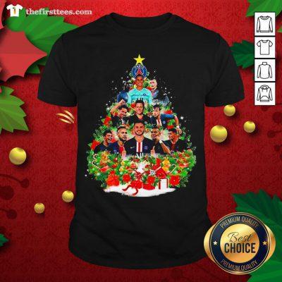 Nice Paris Saint Germain Football Club Christmas Tree Shirt - Design By Thefirsttee.com