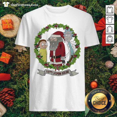 Hot Rick And Morty Santa Happy Human Holiday Christmas Shirt - Design By Thefirsttees.com