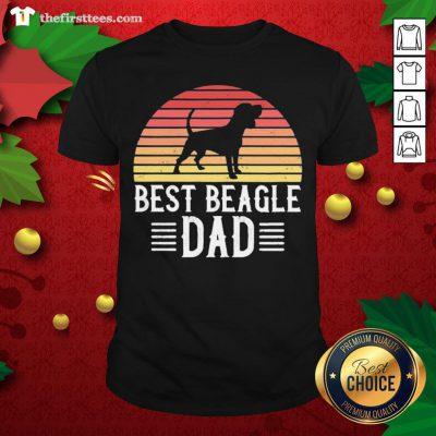 Nice Best Beagle Dad Beagle Dog Shirt - Design By Thefirsttee.com