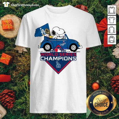 Lovely Snoopy And Woodstocks Los Angeles Dodgers 2020 World Series Champion Shirt - Design By Thefirsttees.com