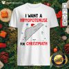 I Want A Hippopotenuse For Christmas Shirt - Design by Thefristtee.com