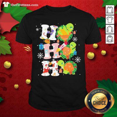 Colorful Turtles Ho Ho Ho Christmas Shirt - Design By Thefirsttees.com