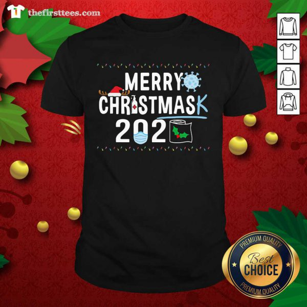 Merry Christmas 2929 Toilet Paper Mask Coronavirus Shirt - Design by Thefristtees.com
