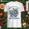 Happiness Is Being A Grandma Snowman Christmas Tree Xmas Shirt - Design by Thefristtees.com
