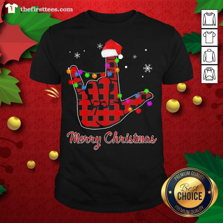 Grateful Plaid Post Malone Hand Santa Merry Christmas Shirt - Design By Thefirsttees.com