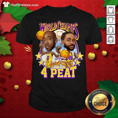 Grateful Los Angeles Lakers Freddie Gibbs And Big Sean World Champs 4 Peat Shirt - Design By Thefirsttees.com