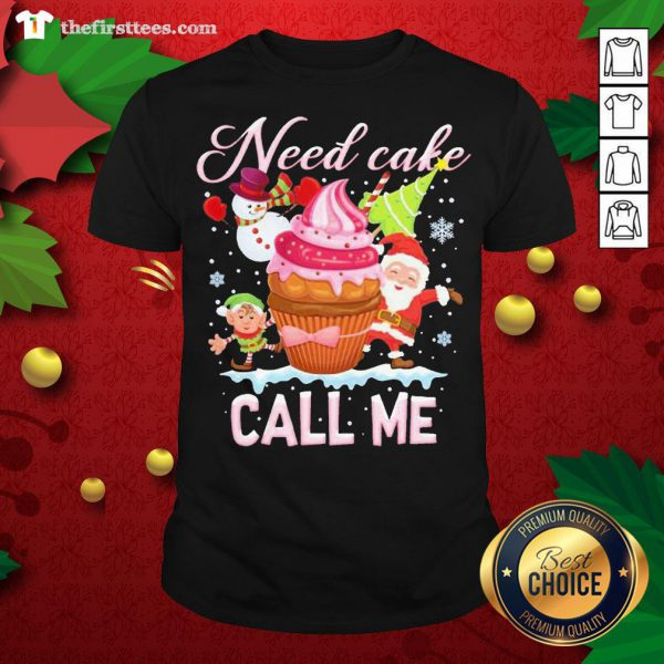 Lovely Santa And Snowman Claus Need Cake Call Me Christmas Shirt - Design By Thefirsttees.com