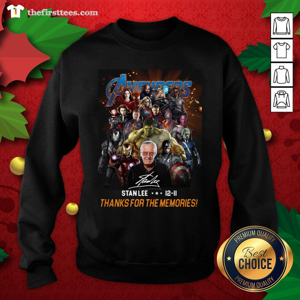 Pretty Avenger Stan Lee 12-11 Thanks For The Memories ShirtPretty Avenger Stan Lee 12-11 Thanks For The Memories Sweatshirt - Design By Thefirsttees.com