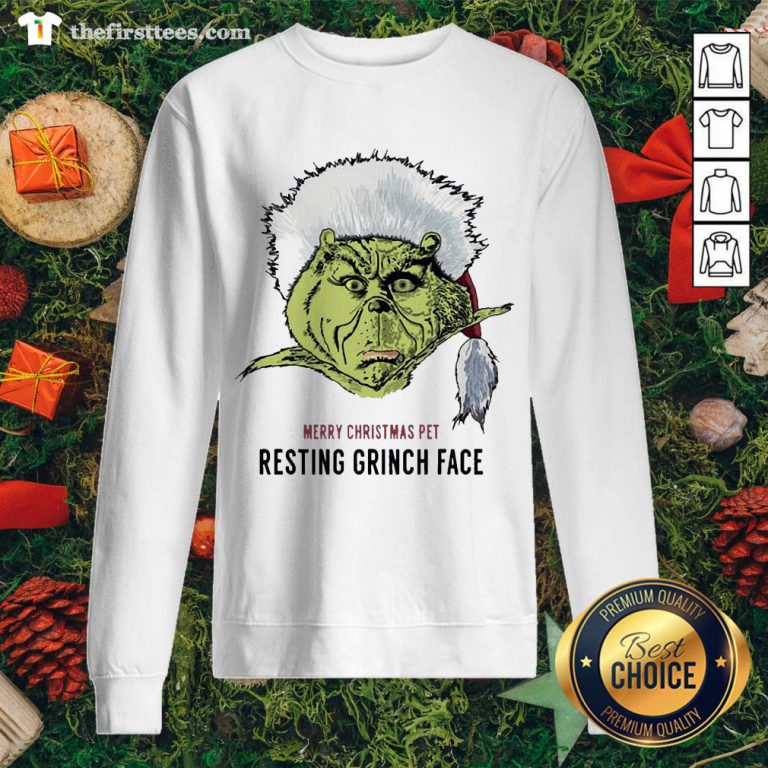 Funny Merry Christmas Pet Resting Grinch Face Sweatshirt - Design By Thefirsttee.com