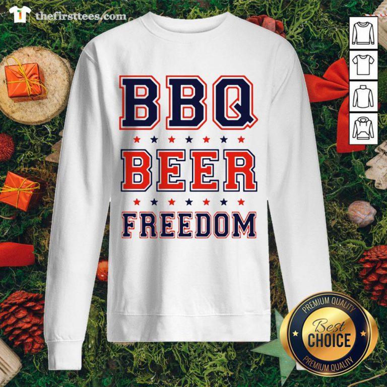 Premium BBQ Beer Freedom Sweatshirt - Design By Thefirsttee.com