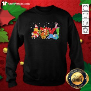Lovely Pooh And Friend Joy Christmas Sweatshirt - Design By Thefirsttee.com