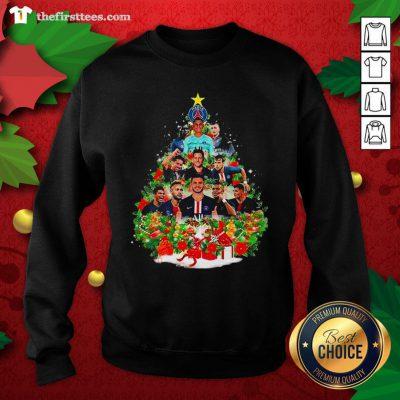 Nice Paris Saint Germain Football Club Christmas Tree Sweatshirt - Design By Thefirsttee.com
