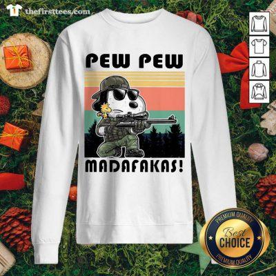 Snoopy Pew Pew Madafakas Vintage Sweatshirt - Design by Thefristtee.com