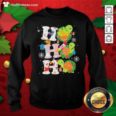 Colorful Turtles Ho Ho Ho Christmas Sweatshirt - Design By Thefirsttees.com