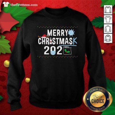 Merry Christmas 2929 Toilet Paper Mask Coronavirus Sweatshirt - Design by Thefristtees.com