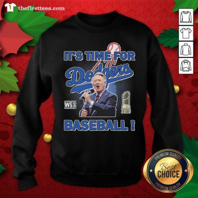 Grateful Vin Scully It's Time For WS 2020 Los Angeles Dodgers Baseball Sweatshirt - Design By Thefirsttees.com
