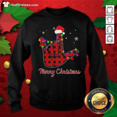 Grateful Plaid Post Malone Hand Santa Merry Christmas Sweatshirt - Design By Thefirsttees.com