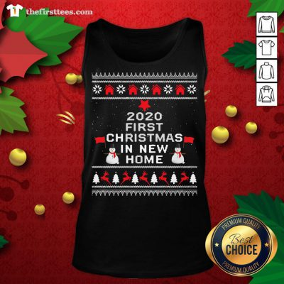 Official 2020 First Christmas In New Home Ugly Christmas Tank Top - Design By Thefirsttees.com