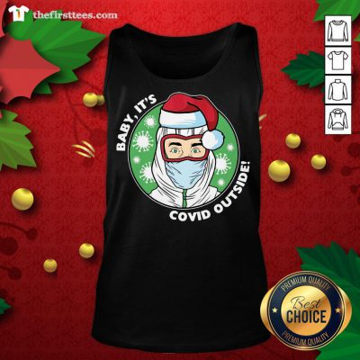 Original Baby It's Covid Outside Christmas Tank Top - Design By Thefirsttees.com