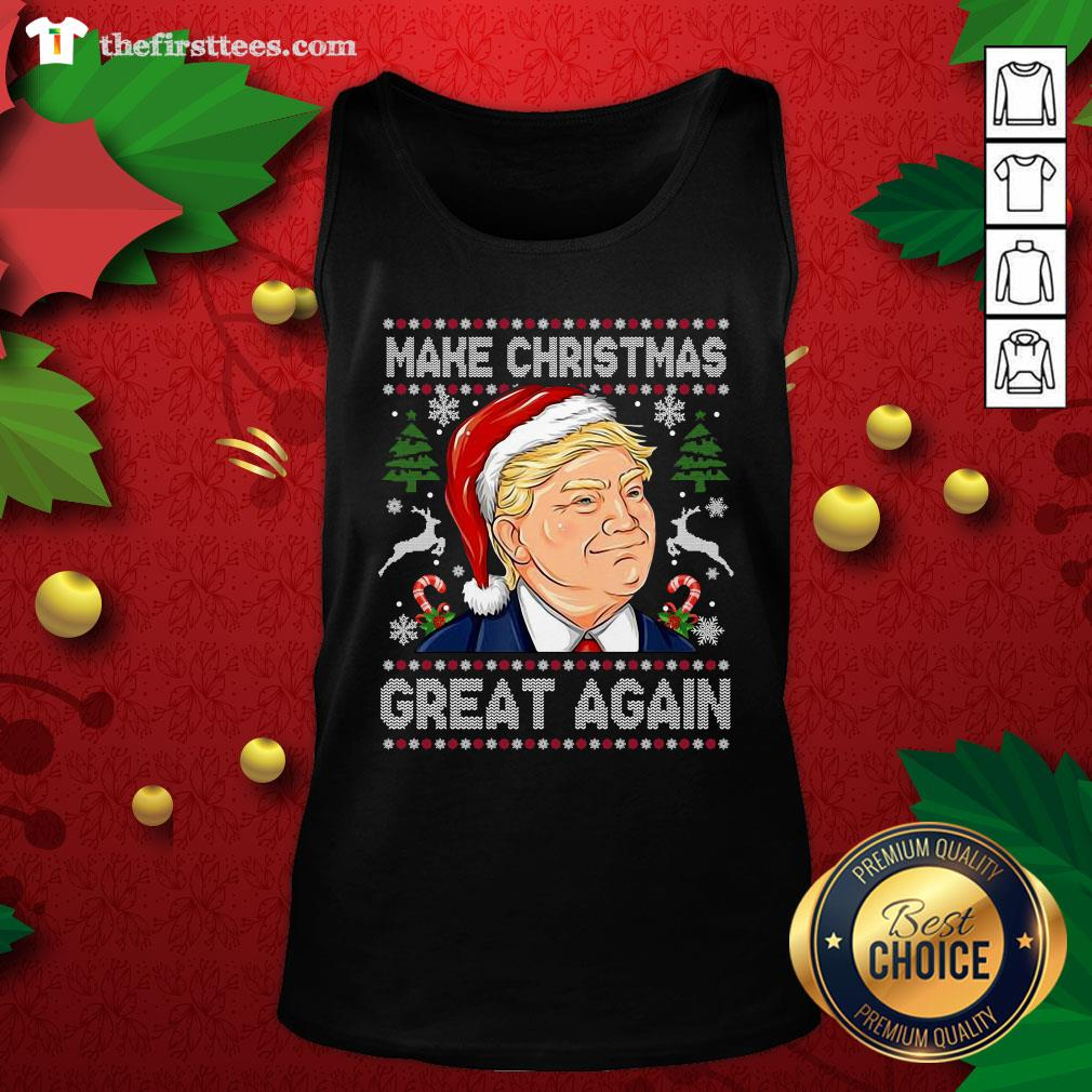 Cute 2020 Trump Make Christmas Great Again Tank Top - Design By Thefirsttees.com