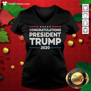 Nice Congratulations President Trump Presidential Election V-neck - Design By Thefirsttees.com