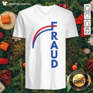 Official Joe Biden Fraud V-neck - Design By Thefirsttees.com