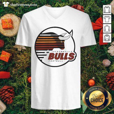 Jacksonville Bulls Football V-neck - Design by Thefristtee.com