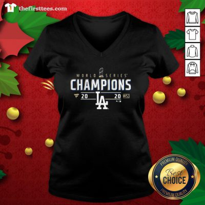 Top World Series Dodgers Championship La 2020 V-neck - Design By Thefirsttees.com