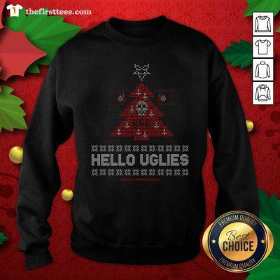 Hello Uglies Ugly Christmas Sweatshirt - Design by Thefirsttees.com