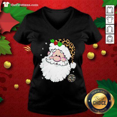 Santa Simply Southern Fa-la-la Ugly Christmas V-neck - Design by Thefirsttees.com