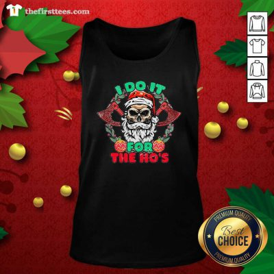 Skull Santa Claus I Do It For The Hos Merry Christmas Tank Top - Design by Thefirsttees.com