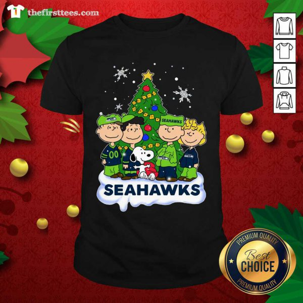 Snoopy The Peanuts Seattle Seahawks Christmas Shirt - Design by Thefristtees.com