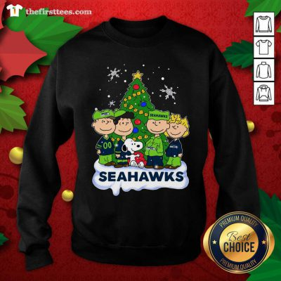 Snoopy The Peanuts Seattle Seahawks Christmas Sweatshirt - Design by Thefristtees.com